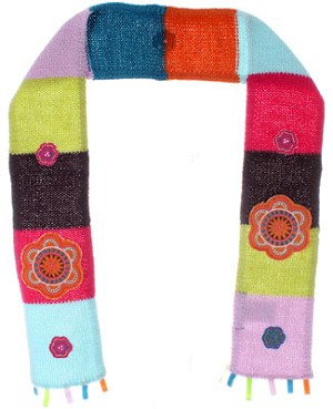 Deux Par Deux *Tango*  Multi Colored Knitted Scarf