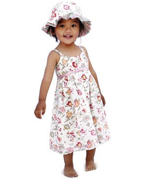 Eternal Creation White Floral Strappy Belle Fleur Dress