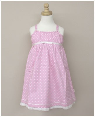 Eternal Creation Pink w/ White Dots and Sequins Bebe Dress