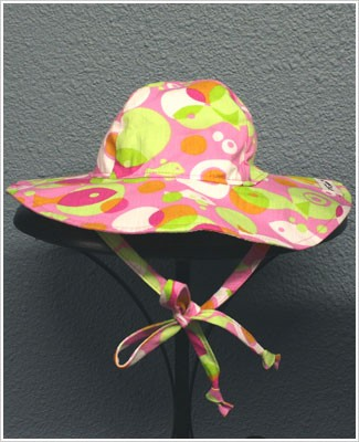 Flap Happy *Mod Fish* Pink/Green Floppy Hat UPF 50+