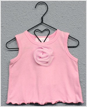 Frillys Pink Tank Top w/ Flower