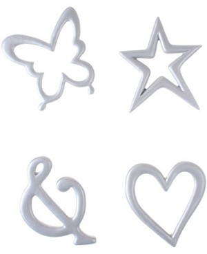 Ganz Elegant Initials Silver Wall Decor Shapes