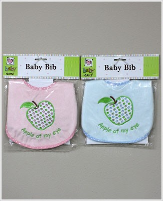 Ganz *Apple Of My Eye* Bib *Choose Pink or Blue*