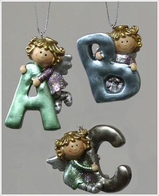 Ganz 2 Inch Initial Angel Ornament