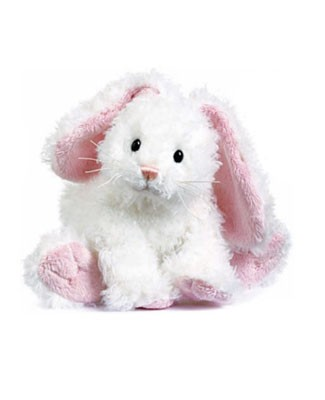 Ganz White Cotton Bunny
