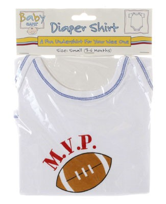 Ganz White/Blue M.V.P. Football S/S Bodysuit