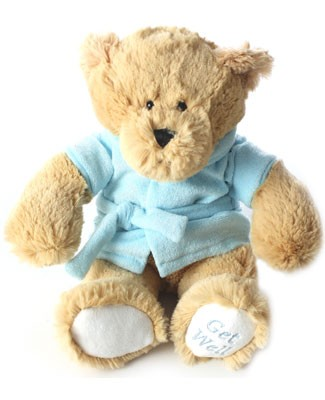 Ganz Carmel Get Well Soon Bear with Blue Robe