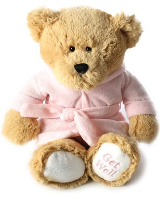 Ganz Carmel Get Well Soon Bear with Pink Robe