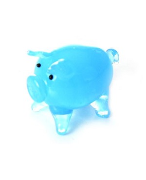 Ganz *Blue Pig* Mini Glass Animal World
