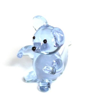 Ganz *Clear Blue Mouse* Mini Glass Animal World