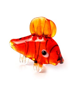 Ganz *Orange Clown Fish* Mini Glass Animal World