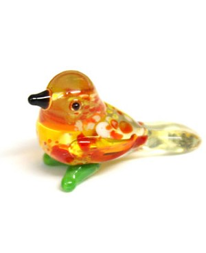 Ganz *Red/White Speckled Bird* Mini Glass Animal World