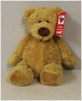 "Ganz 9"" Mini Tubby Tummy Bear - Honey"
