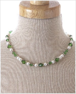 : Ganz May Birthstone Necklace