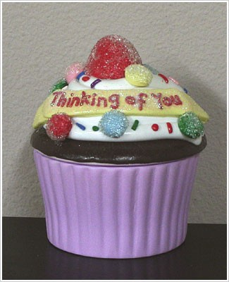 Ganz Special Celebrations Cupcake *Thinking of You* Trinket Box