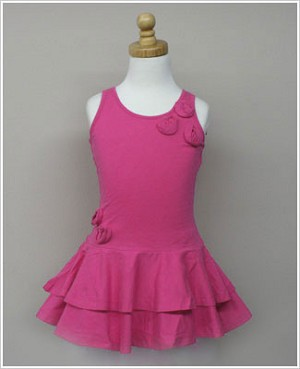 Girl and Company *Escape* Miami Fuschia Dress With Flowers