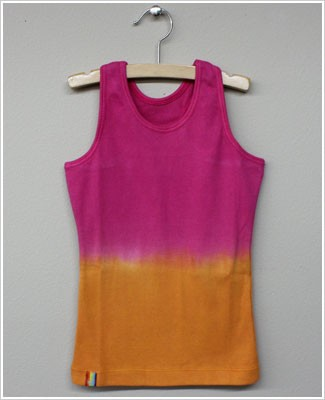 Girl and Company *Cotton Candy* Fuschia to Orange Ribbed Tank