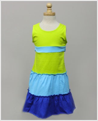 Girl and Company *Escape* Aruba Turquoise And Lime Dress