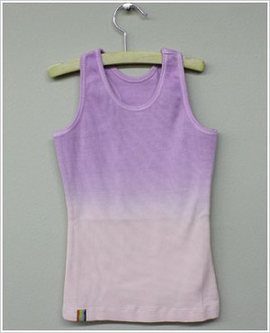 Girl and Company *Cotton Candy* Lilac to Pink Ribbed Tank