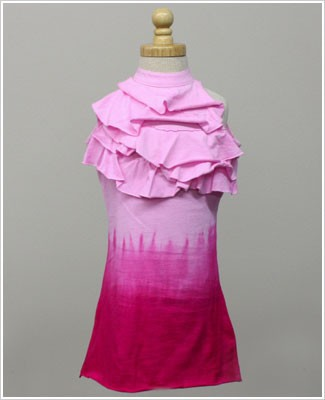 Girl and Company *Escape* Pink Dip-Dye Ruffle Dress