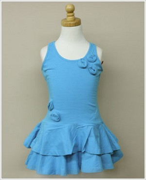 Girl and Company *Escape* Miami Turquoise Dress With Flowers