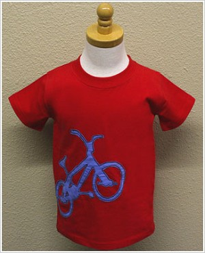 GT Red Short Sleeve Bike Applique Tee