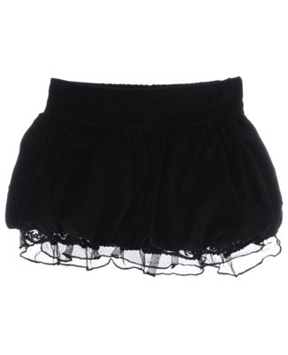 GT Black Velvet Bubble Skirt