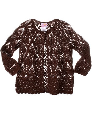GT Brown Crocheted L/S Cardigan