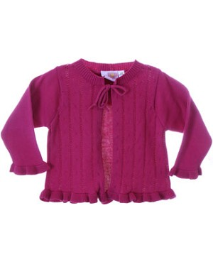 GT Fuschia Pointelle Cardigan