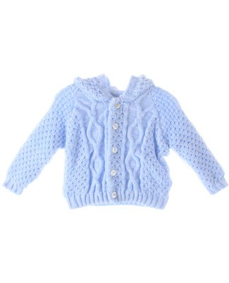 GT Light Blue Knitted Hoodie Cardigan