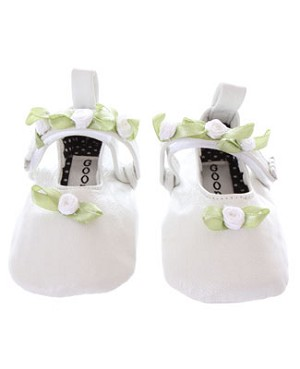 Goody Goody White Rosetta Infant Shoes