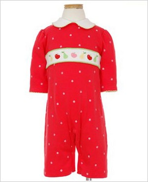 II: Hartstrings *Pears 'N Apples* Red Romper