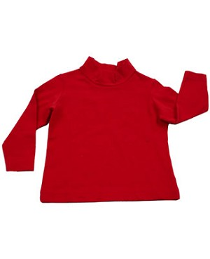 10y II: Hartstrings Red Knit Mock Turtleneck