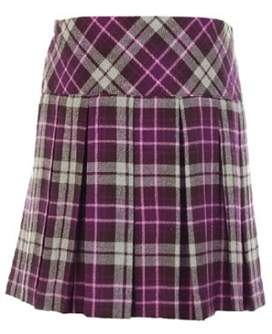 Hartstrings Purple Plaid Pleated Skort