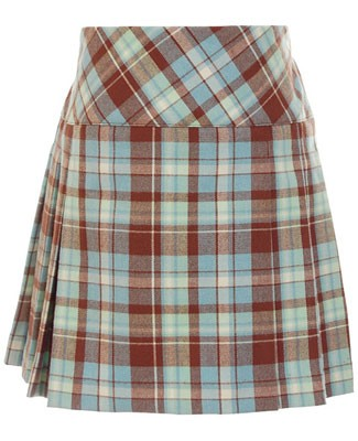 Hartstrings Brown/Blue Plaid Woven Skirt