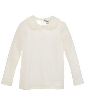 Hartstrings Cream L/S Top w/ Collar