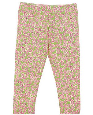 Hartstrings Pink/Green Paisley Leggings