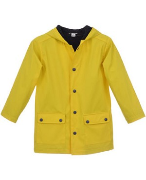 Hartstrings Yellow Rain Coat with Black Buttons