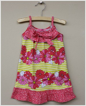 Haven Girl *Petal Pusher* Pink/Yellow Tank Tunic