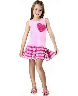 Haven Girl Pink Sleeveless Dropwaist Ruffle Dress & Pink Jeweled Capri Legging Set