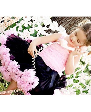 Z: Huggalugs Smitten - Black & Light Pink Pettiskirt