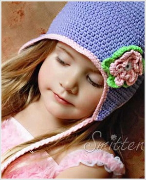 Z: Huggalugs Hat - Lilac Crocheted Beanie