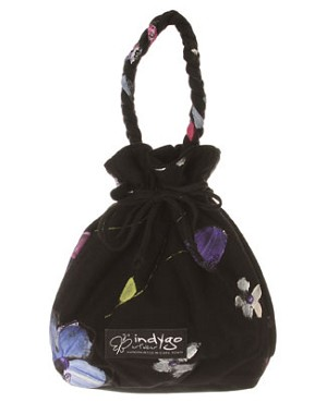 Indygo Artwear Black Midnight Garden Bag