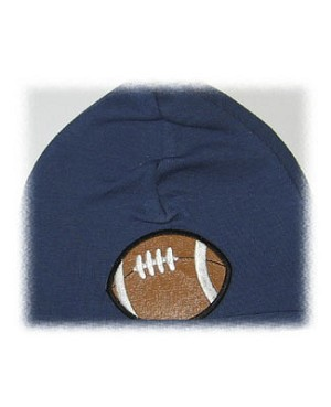 Z: Denim Blue Football Beanie Hat