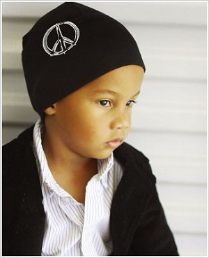 Z: Black Peace Screen Print Beanie