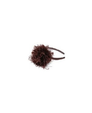 Z: Brown Curly Marabou Hard Headband