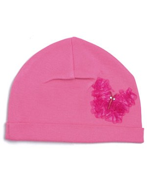 Z: Candy Pink Butterfly Beanie Hat