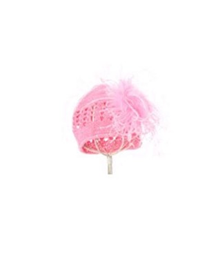 Z: Crochet Candy Pink Curly Marabou Hat *Many Colors!*