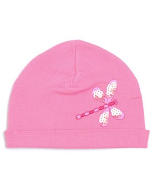 Z: Candy Pink Sequin Dragonfly Beanie Hat