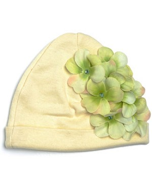 Z: Garden Geranium Cream with Green Hat